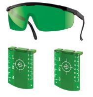 Green glasses and target